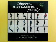 ARTLANTIS Objects - Casual 3D models #1 CD Dysk