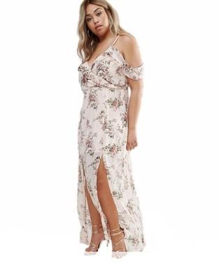 BOHO sukienka plus size MAXI ramiona 50 22