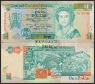 MAX - BELIZE 1 Dollar 1990 r. # F/VF