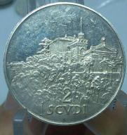 2 Scudi Zakon Maltański 1977 srebro rzadka moneta.