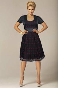 2de17f6deb Sukienka wizytowa 005 1021-1 rozmiar 42 - 5845930926 - oficjalne ...