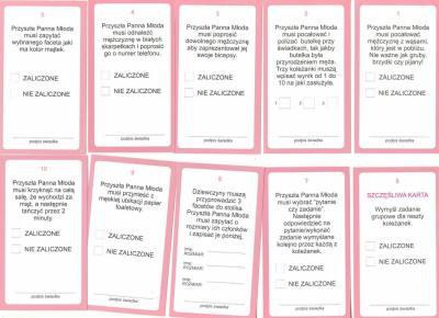 Karty Z Zadaniami Na Wieczor Panienski Wys 24h 5998779136 Oficjalne Archiwum Allegro