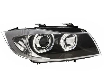 Lampy przednie BMW E90 E91 ringi led black H7 Depo