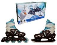 Łyżworolki Frozen Łyżwy Rolki Regulowane 31 - 38