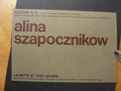 RZEŻBA ALINA SZAPOCZNIKOW KATALOG