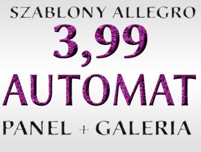 SZABLON ALLEGRO SZABLONY AUKCJI + GRATISY+PANEL !!