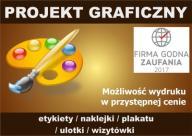 projekt etykiety naklejki plakatu ulotki wizytówki
