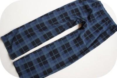 M&S super  SPODNIE do SPANIA piżama KRATKA  L