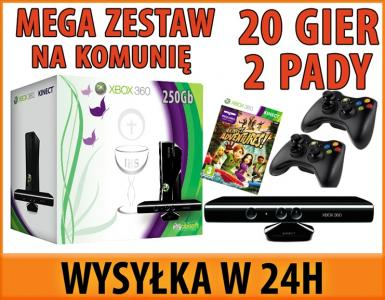 Xbox 360 250gb Kinect 20 Gier Hdmi 2 Pady Lodz 3487748218 Oficjalne Archiwum Allegro