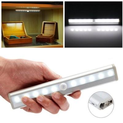 Listwa Lampka 10 Led Na Baterie Z Czujnikiem Ruchu