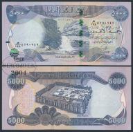 MAX - IRAK 5000 Dinars 2013 r. # Z PASKIEM # XF