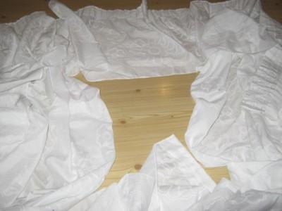 Urocza firana lambrekin z bokami 432 / 224 cm