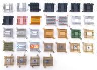 Aluminiowe radiatory 37x38x10 do mocowania +pasta