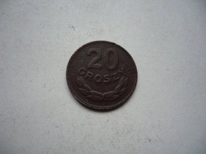 20 GROSZY 1949 MIEDZIONIKIEL GRUBA PATYNA