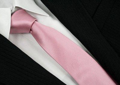 Krawat Waski Pudrowy Roz Krawaty 53 6553348313 Oficjalne Archiwum Allegro