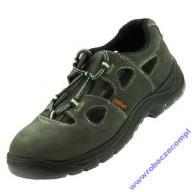 sandały robocze buty zamszowe,stal podnos 40 lux