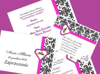 Zaproszenia ślubne Wkładki Z Wierszykiem Koper 5712965275