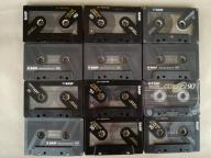 kasety Basf Chrome 90 i TDK 90 chromówki 12 szt.