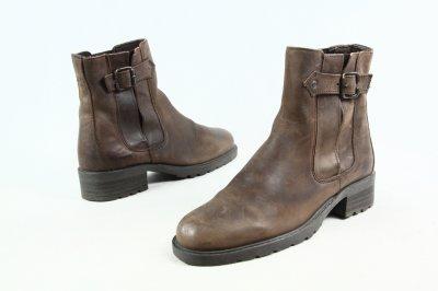 buty męskie skórzane sztyblety NEXT brąz 39 j'nowe