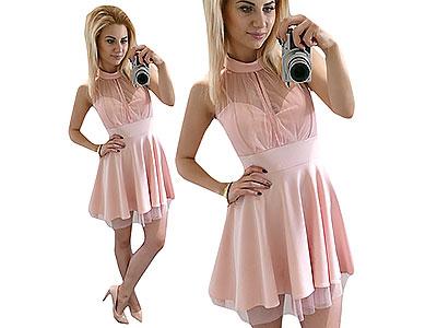 Zjawiskowa Rozkloszowana Sukienka Wesele L40 N563 6826515117