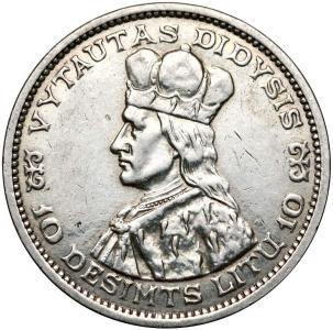 1520. Litwa, 10 litu 1936, st.3/4