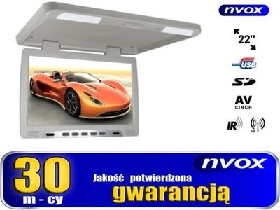 Monitor podsufitowy LED 22 cale USB SD IR FM 12V