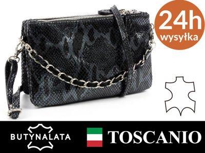 1b27d5e0907a5 Torebka kopertówka TOSCANIO 1103 grafitowa WŁOSKA - 6287435259 ...