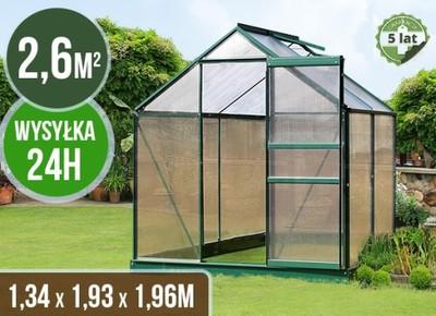 Szklarnia Ogrodowa 2 6m 1 3x2x2m Fundament Zielona 6110483172 Oficjalne Archiwum Allegro