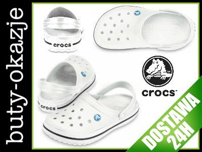 Crocs Crocband White Białe klapki 37 38 M5