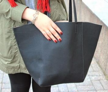 224b9771440b1 H&M torba torebka shopper bag zara czarna - 5707715080 - oficjalne ...