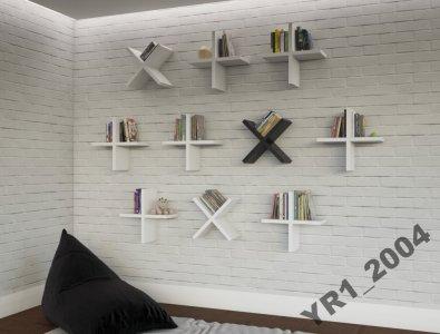 Półki Na ścianę Białe Proste Nowoczesne 6093039380