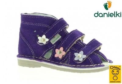 Kapcie DANIELKI buty profilaktyczne s124 fiol, 30