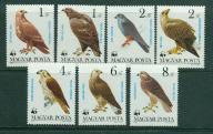 WĘGRY** WWF, ptaki drapieżne  Mi 3624-30
