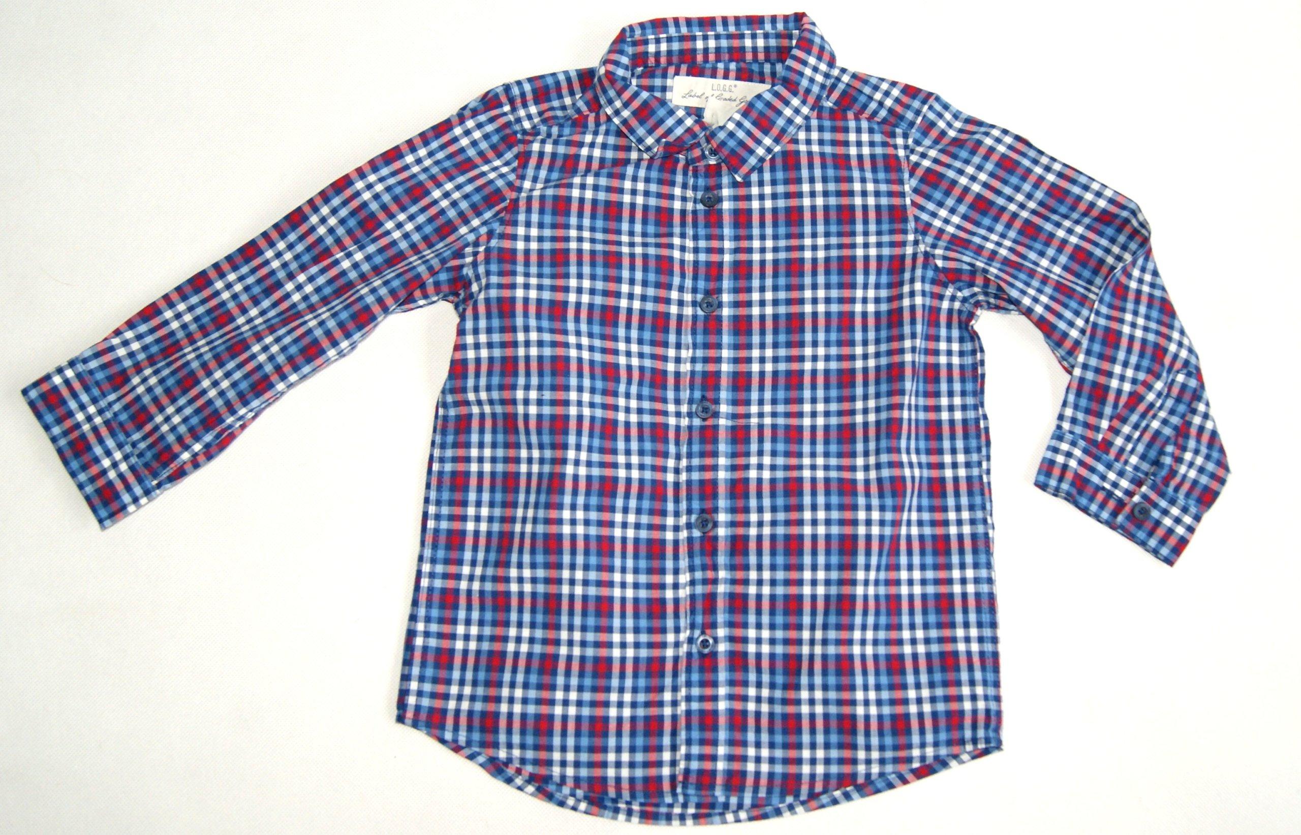 H&M 92 Sportowa Koszula Drobna Krateczka 7020791569  1S7P0