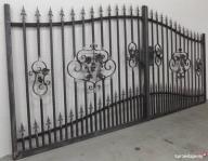 Brama skrzydłowa wjazdowa 7P kowalstwo kute