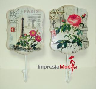 Wieszak Do łazienki Kolorowy Retro Kwiaty Paryż 5472473830