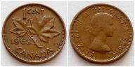 Kanada 1 cent 1962r