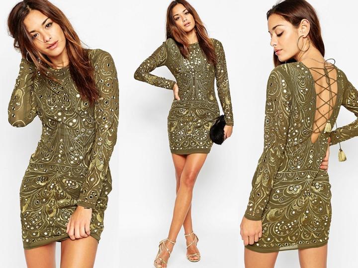 Asos Cudowna Sukienka Cekiny Sylwester S 36 Boho 7036320324 Oficjalne Archiwum Allegro