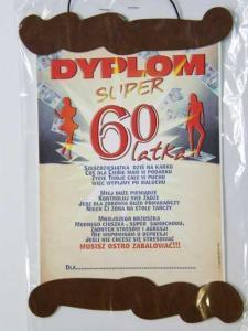 Dyplom 60 LATKA - prezent na 60. urodziny