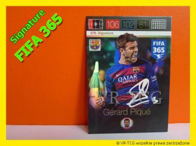 Karty Panini Fifa365 Signature Gerard Pique 5784277865 Oficjalne Archiwum Allegro