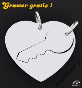 58 WISIOREK SERCE KLUCZYK SREBRO 925 GRAWER GRATIS