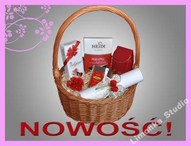 Podziekowania Dla Rodzicow Kosz Na Slub Czerwien 6492481225 Oficjalne Archiwum Allegro