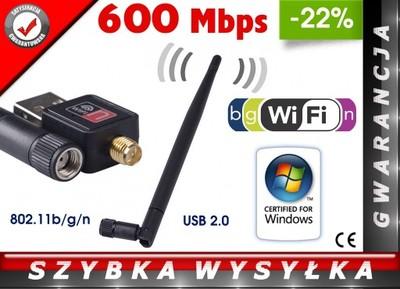 ADAPTER KARTA SIECIOWA WIFI USB FERGUSON 600 Mbps!