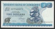 Zimbabwe - 2 dolary - 1983 - stan UNC  /  AA