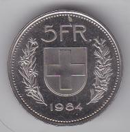 5 Franków SZWAJCARIA 1984
