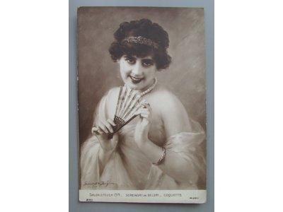SALON D'HIVER 1914 Serenat de Belzim Coquette
