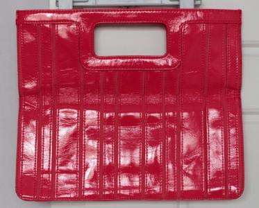 5e0633caf447f Lakierowana neonowa różowa H M duża kopertówka - 5328129638 ...