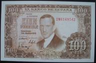 Hiszpania - 100 peset - 1953 - stan bankowy UNC