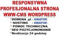 STRONA WWW-SKLEP+DOMENA+ HOSTING+ SEO+ LOGO w 24h