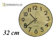 CYFRY ARABSKIE ZEGAR ŚCIENNY RETRO 32cm (HHF4116)